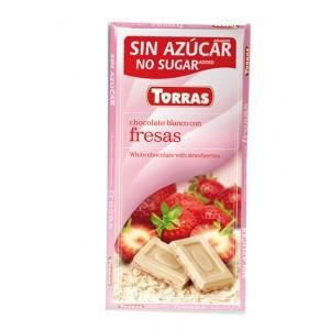 Chocolate Blanco Con Fresas Torras