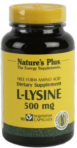L-Lysina 500mg 90 Cáps Nature's Plus