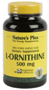L-Ornitine 500mg 90 Cáps. Nature's Plus