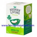 Té Verde Con Coco 20 Filtros Higher Living
